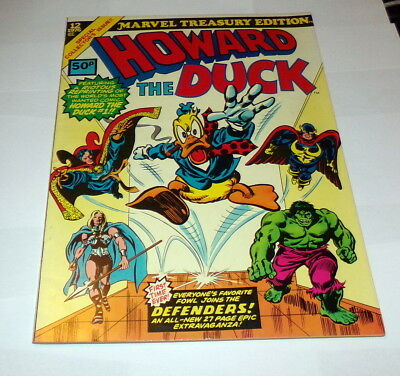 Marvel Treasury Edition #12 Mint Howard The Duck 1976 Uk Copy