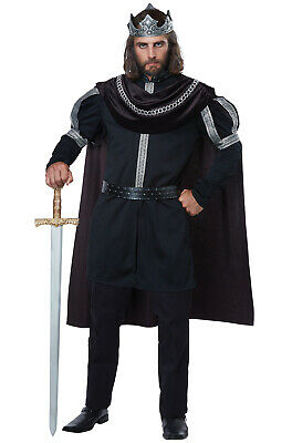 Brand New Dark Monarch Medieval Renaissance King Adult Costume