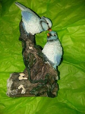 Lightweight Bird Figurine, Blue Jays, Vintage