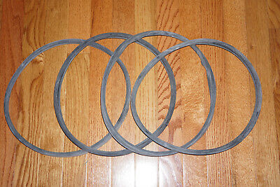 """Traffic Signal Light lens gaskets-Set of 4-New, old stock. 12"""" FREE SHIPPING-USA"""