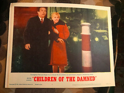 Children Of The Damned 1964 MGM horror lobby card Barbara Ferris Ian Hendry