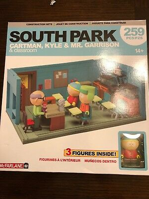 South Park McFarlane Toys Mr. Garrison Kyle and Cartman with the Classroom NEW