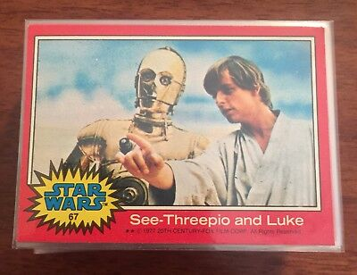 Star Wars - 1977 Series 2 (RED) - Complete Trading Card Set (66) - NM