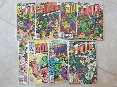 The Incredible Hulk Lot Of 8 Bronze Age  175,202,214,232,250,252,293,316