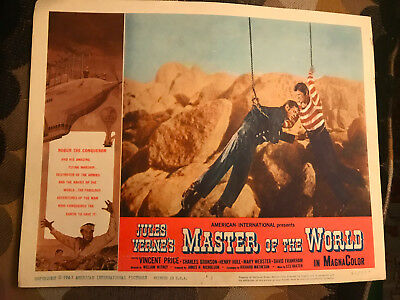 Master Of The World 1961 American International Sci-Fi lobbycard Charles Bronson