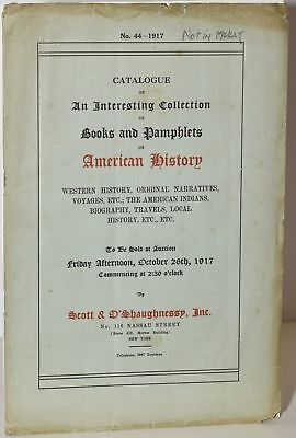 Catalogue Of An Interesting Collection Of Books & Pamphlets On American #216370