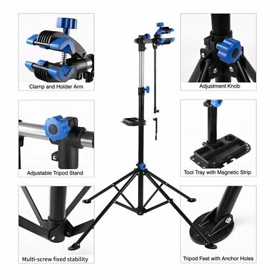 """Pro Bike Adjustable Repair Stand w/ Telescopic Arm Cycle Bicycle Rack 41"""" To 75"""""""