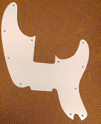 Replacement pickguard for Fender Telecaster Bass thin white 1968 1969 1970 1971