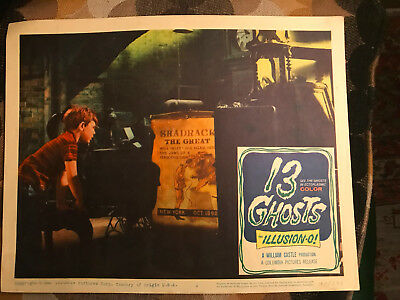 13 Ghosts 1960 Columbia horror looby card Charles Herbert Circus Poster
