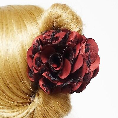 lace layered petal flower hair jaw claw sexy dream flower hair claw clip