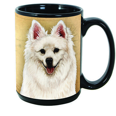 American Eskimo Faithful Friends Dog Breed 15oz Coffee Mug Cup