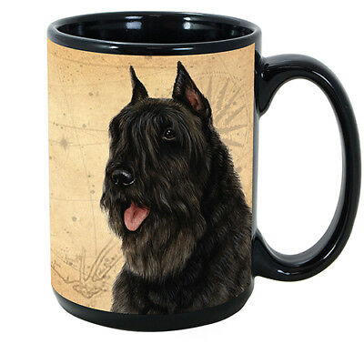 Bouvier des Flandres Black Faithful Friends Dog Breed 15oz Coffee Mug Cup