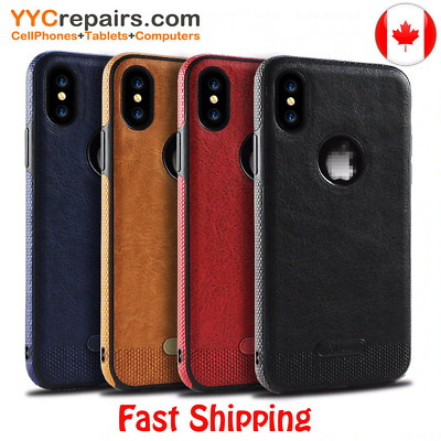 Luxury Classic Series PU Leather Stitching Phone Case Cover for Samsung iPhone