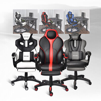 High Back Gaming Racing Chair Computer Recliner Bucket Swivel Seat Sports Office