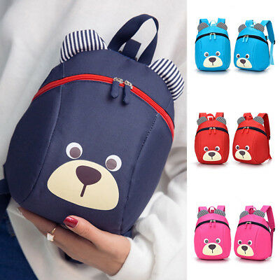 Cartoon Baby Toddler Kids Bear Backpack Shoulder Bag Boys Girls School Bags Gift