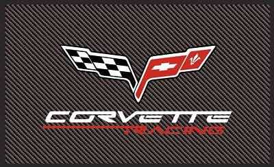 Corvette C6 Racing Style Flag Banner 3Ft X 5Ft Carbon Fiber Look Usa Seller Look
