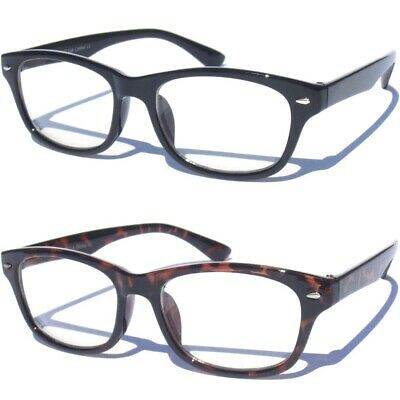 97253486e3 CLEAR LENS GLASSES Classic Retro Design Horn Rim Style Fashion Nerd Eyewear  New