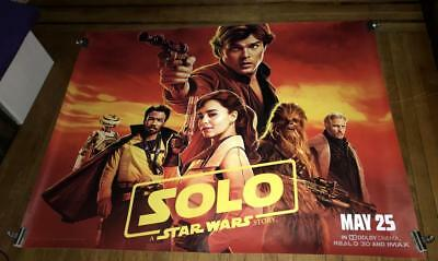 SOLO A STAR WARS STORY 5FT SUBWAY MOVIE POSTER Han Solo 2018