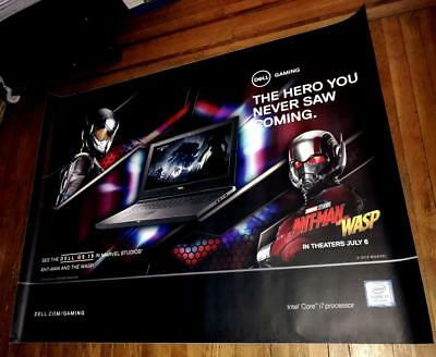 Dell Gaming Antman And The Wasp Marvel Ad 5Ft Subway Poster