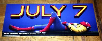 """Spider-Man Homecoming 28"""" Ny Bus Movie Poster Banner #3 2017 Marvel Comics"""