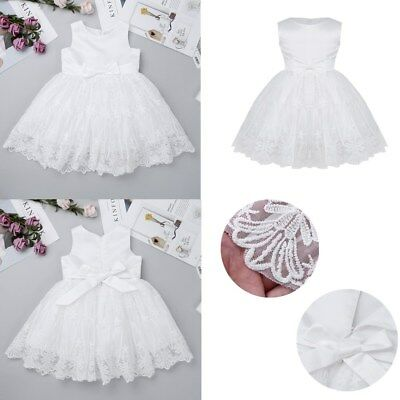 Lace Flower Baby Girls Baptism Christening Dresses Wedding Pageant Tutu Dress