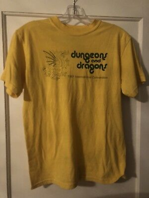 Vintage Dungeons And Dragons International Convention 1981 T Shirt Yellow S 80s
