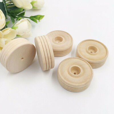 25pcs Small Wooden Wheels Bulk Plain Unfinished Wood Bird Toy DIY Craft Parts