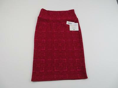 bf1b068ac NWT New LuLaRoe Womens Red & Pink Cassie Pencil Skirt Size XS Textured Geo  Cute