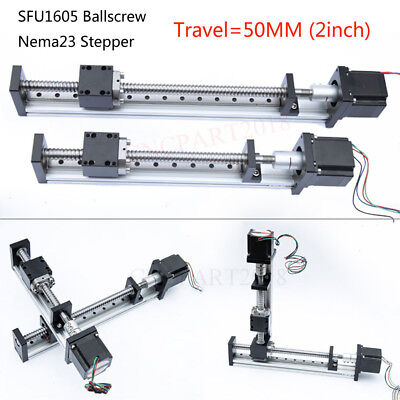 SFU1605 Linear Rail Guide Slide Stage Table Motion Module Actuator 50MM XYZ Axis