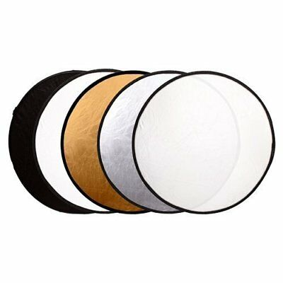 5 in 1 Collapsible Light Reflector Portable Photography Studio Multi Photo Disc