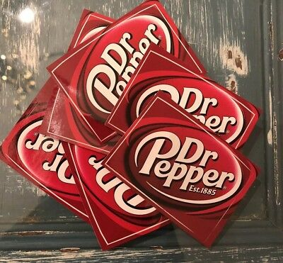 2 Dr. Pepper Stickers Decals 1.5x2.25in