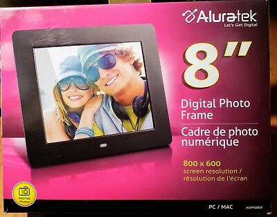 Aluratek 8 Lcd Digital Photo Frame Black 2300 Picclick