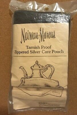 """AUTHENTIC Pacific Silver Cloth 24"""" X 30"""" Zippered Holloware Bag Care Pouch NIP"""