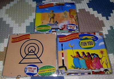 KIT 3 CDs singles Paul McCartney - I Don't Know + Come On To Me + Fuh You