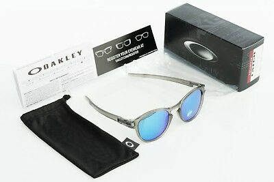 b19c5e6163 Oakley Latch Matte Grey Ink w Sapphire Iridium Polarized OO9265-08 Frogskins