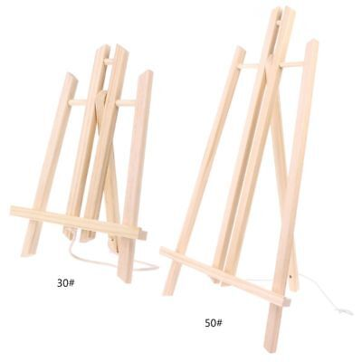 Wood Easel Advertisement Exhibition Display Studio Shelf Holder Painting Stand