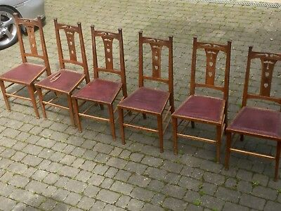 Arts & Crafts Liberty & Co Oak Chairs 1900