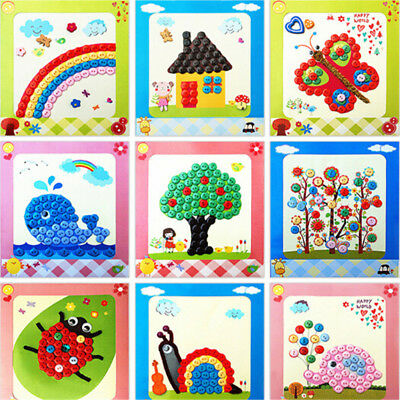 1Pc DIY Button Drawing Painting Interactive Material Kids Educational Toys  X