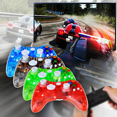 USB Controller Gamepad Afterglow LED Wired For Microsoft Xbox 360 PC Win 10 Game