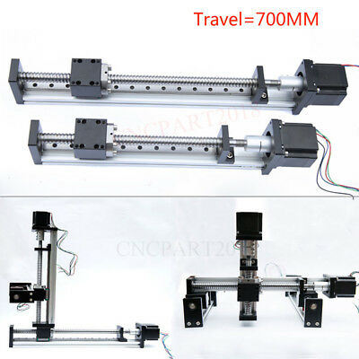 700MM Linear Rail Cross Slide Electric Sliding Table 28inch 25/5KG Load XYZ Axis