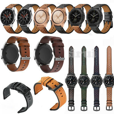 22mm Leather Watch Band for Samsung Galaxy Watch 46mm / Gear S3 Frontier/Classic