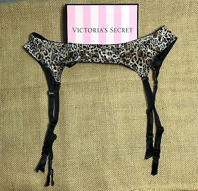 Victoria Secret Reversible Leopard & Black Print Garter - Size One Size *NWT*
