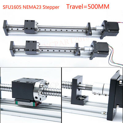 500MM Electric Sliding Table Linear Rail Guide Stage Module Actuator XYZ Axis