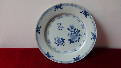Antique chinese export porcelain plate. XVIIIth C Ancienne  Assiette Chine...I