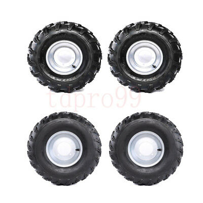 19x7-8 Front Wheels Tyre Rim + 18x9.50-8 Rear Tyres Quad Bike ATV Buggy Go Kart
