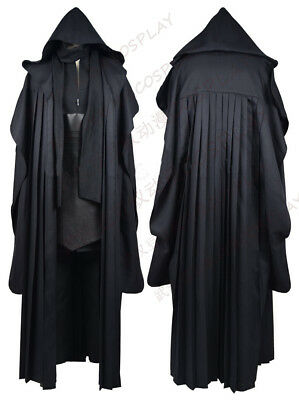 Star Wars Darth Maul Skywalker Cosplay Costume Full Sets Halloween Black Outfit
