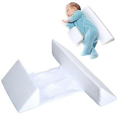 Baby Sleep Pillow Wedge Infant Sleeping Head Support Pillow Anti Flat Head White
