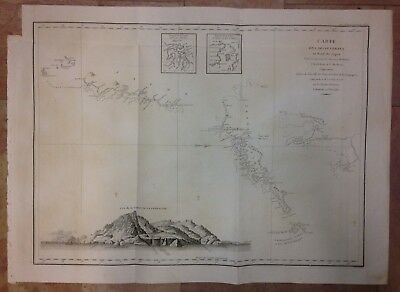 Northern Japan Hokkaido Kuril Islands 1797 La Perouse Large Antique Engraved Map