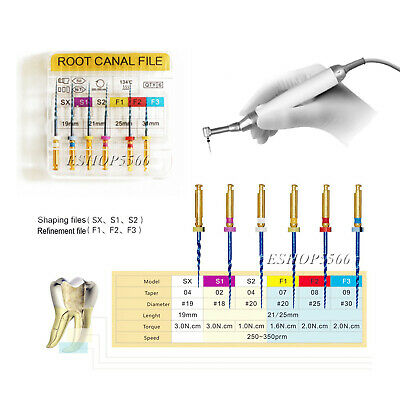 19mm/21mm/25mm Dental Heat Activated Niti Endodontic Root Canal Files 6pcs/box