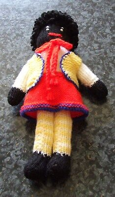 Hand Knitted gollywog 29cm ( girl  )